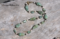African Turquoise Teardrop Necklace