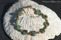 African Turquoise & Tiger-eye Bracelet
