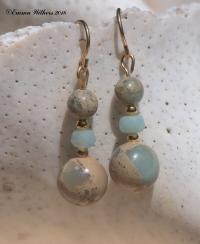 Amazonite Impression Earrings