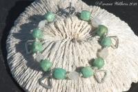 Amazonite & Hilltribe Charm Bracelet