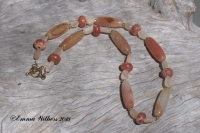 Apricot Fire Agate Necklace