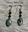African Turquoise & Onyx Earrings