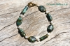 African Turquoise & Pearl Bracelet