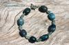 Apatite & Roman Glass Bracelet