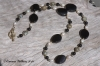 Black Onyx & Agate Necklace