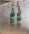 Coins of Turquoise Earrings