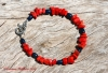 Red Coral and Lapis Lazuli Bracelet