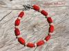 Coral & Freshwater Pearl Bracelet