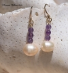 Freshwater Pearl & Amethyst Earrings