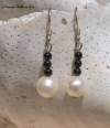 Freshwater Pearl & Black Onyx Earrings