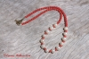 Freshwater Pearl & Red Coral Necklace - Gold Clasp