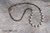 Freshwater Pearl & Tiger-eye Necklace