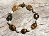 Golden Tiger-eye & Pearl Bracelet
