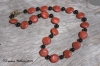 Grass Coral & Onyx Necklace