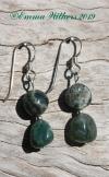 Green Ocean Jasper Earrings