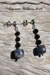 Iolite Onyx Earrings