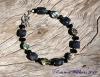 Iolite and Paua Shell Bracelet