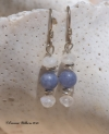 Kyanite Moonstone Earrings