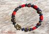 Lapis Lazuli & Coral Feature Bead Bracelet