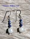 Lapis & Moonstone Earrings