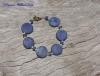 Lapis Coin & Pearl Bracelet