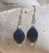 Lapis & Seed Pearl Earrings