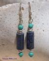 Lapis & Turquoise Earrings