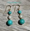 Magnesite Pearl Earrings
