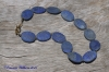 Matte Lapis Oval Necklace