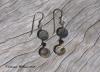 Paua & Onyx Earrings