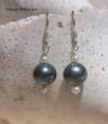 Peacock & Seed Pearl Earrings
