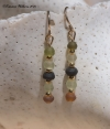 Roman Glass Earrings - Autumn