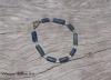 Roman Glass & Hilltribe Silver Bracelet