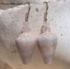 Rose Quartz Cone Earrings