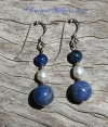 Sodalite Pearl Earrings