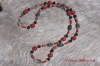 Tourmalinated Quartz & Red Coral Necklace