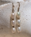 Trio of Rice Pearl Earrings