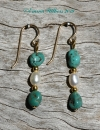 Turquoise & Freshwater Pearl Earrings